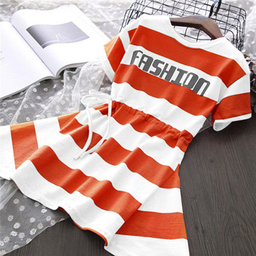 VIDMID New Summer Baby striped Princess Floral cotton clothes Dress 3-14year Girls Clothing Children Clothes Dresses P528 2