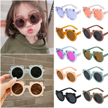 Cute Bear Kids Sunglasses Vintage Round Children Boy Girl Sun Glasses Uv Protection Classic Glasses Baby Photography Props