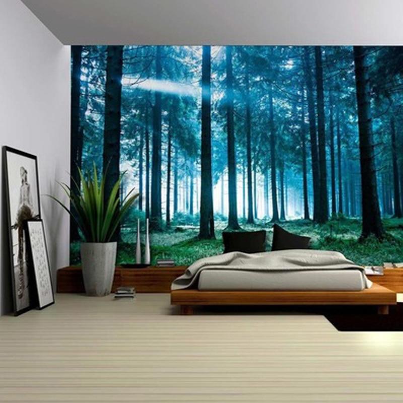 Настенный гобелен в богемном стиле, красивый винтажный натуральный лес, большой настенный гобелен, хиппи, мандала, Настенный декор