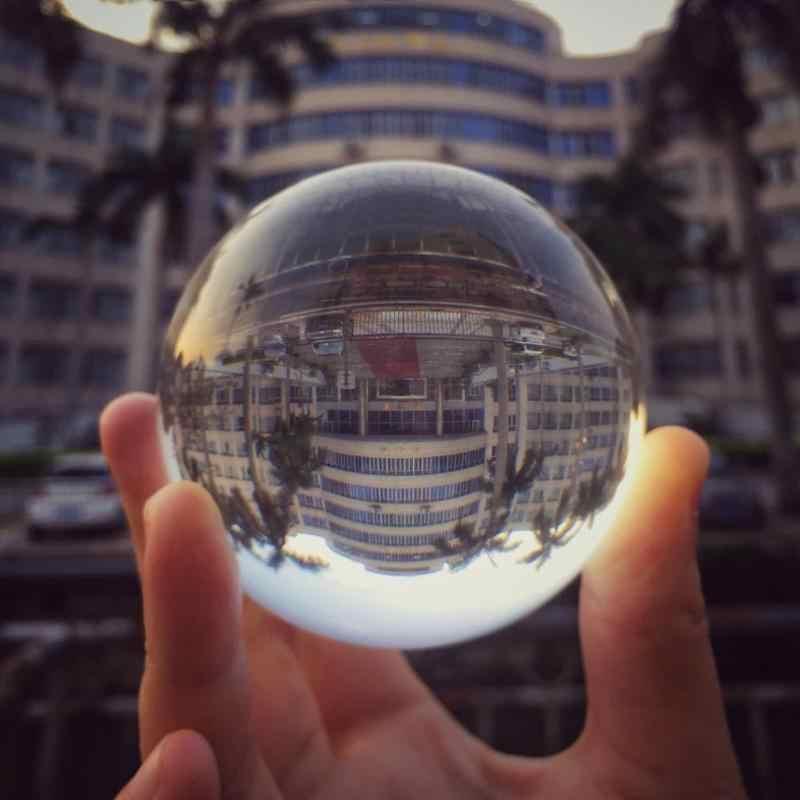 מלאכותי גביש כדור זכוכית ריפוי כדור כדור קישוט קישוטי מתנות בסגנון הסיני פנג שואי קישוט כדור 30/40/ 50mm