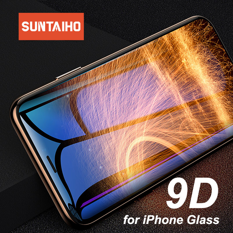 Suntaiho 9D Tempered Glass For IPhone 6 6s 7 8 Plus Protector Glass For IPhone X Xs Max Xr Screen Protective For IPhone 6 Glass