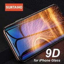 Suntaiho 9D de vidrio templado para iPhone 6 iPhone 6 6s 7 7 Plus cristal protector para iPhone X Xs X Max Xr protector de pantalla para iPhone 6