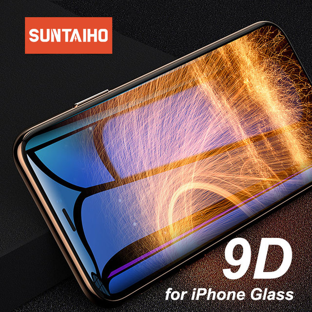 Suntaiho 9D 強化ガラス iphone 6 6s 7 8 プラス iphone x xs 最大 xr 用 iphone 6 用保護ガラス