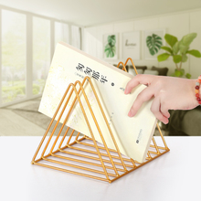 Organizer Magzine-Holder Book Nordic Iron Wrought Record-Rack Lp Creative Triangle
