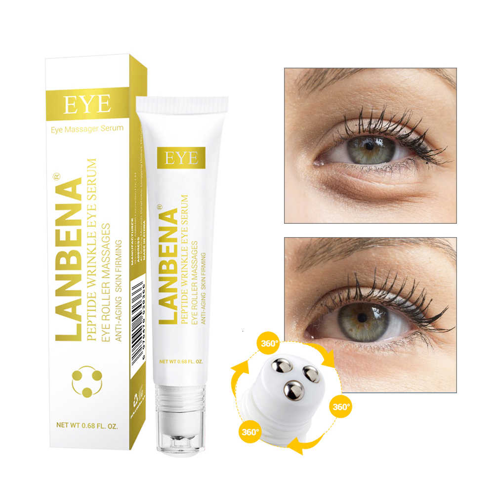 นาฬิกา LANBENA Peptide Wrinkle Eye Serum Anti-Puffiness Fine เส้น Dark Circle Anti-Aging Moisturizing Eye Patches Eye Care ความงาม