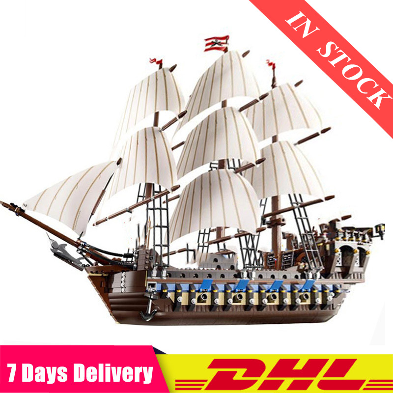 DHL  22001 1717pcs Pirate Ship Imperial Warships Model Building Kits Block Briks Toys Gifts Compatible 83038  10210