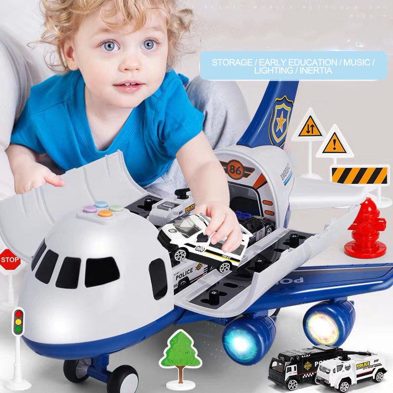 New Toy Aircraft Music Story Simulation Track Inertia Children'S Toy Aircraft Large Size Passenger Plane Kids Airliner Toy Car