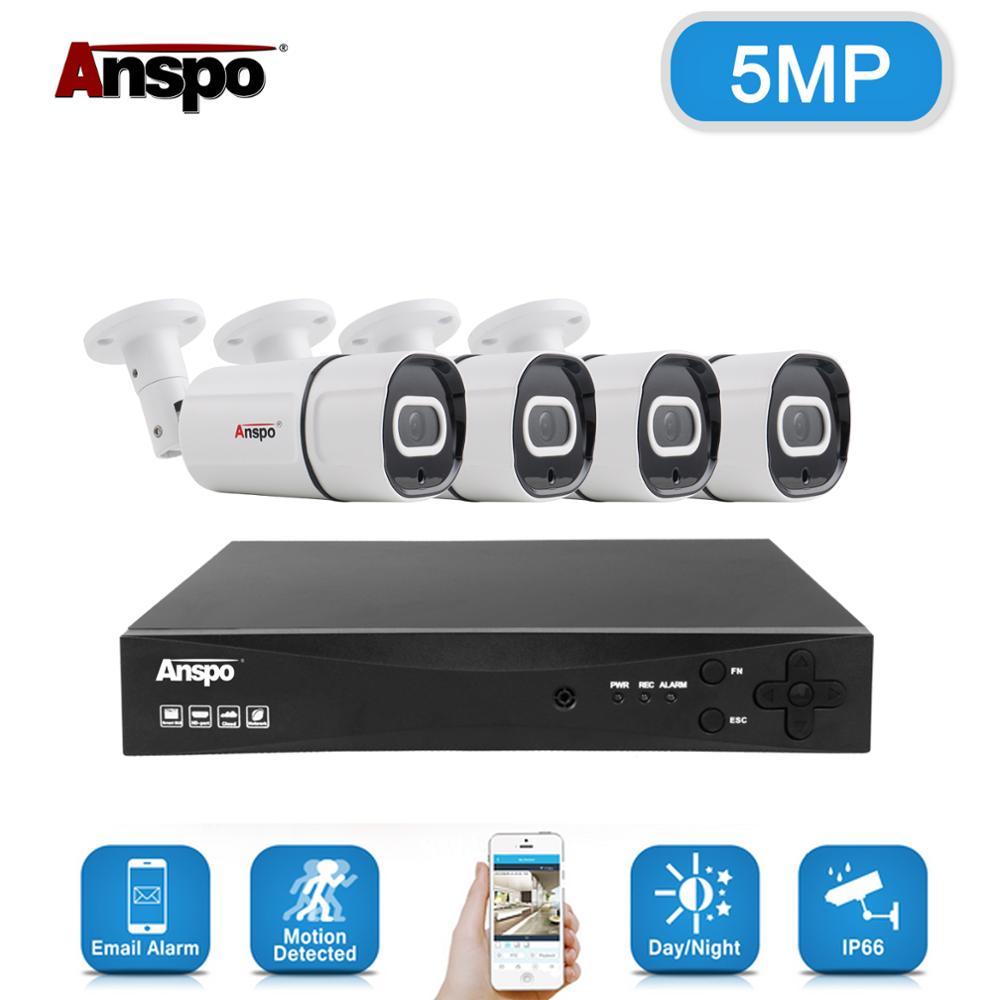 4CH 5MP Audio Record DVR AHD Câmera de Segurança Kit Sistema De Câmera IR Ao Ar Livre À Prova D' Água de Vídeo Vigilância CCTV Conjunto DVR