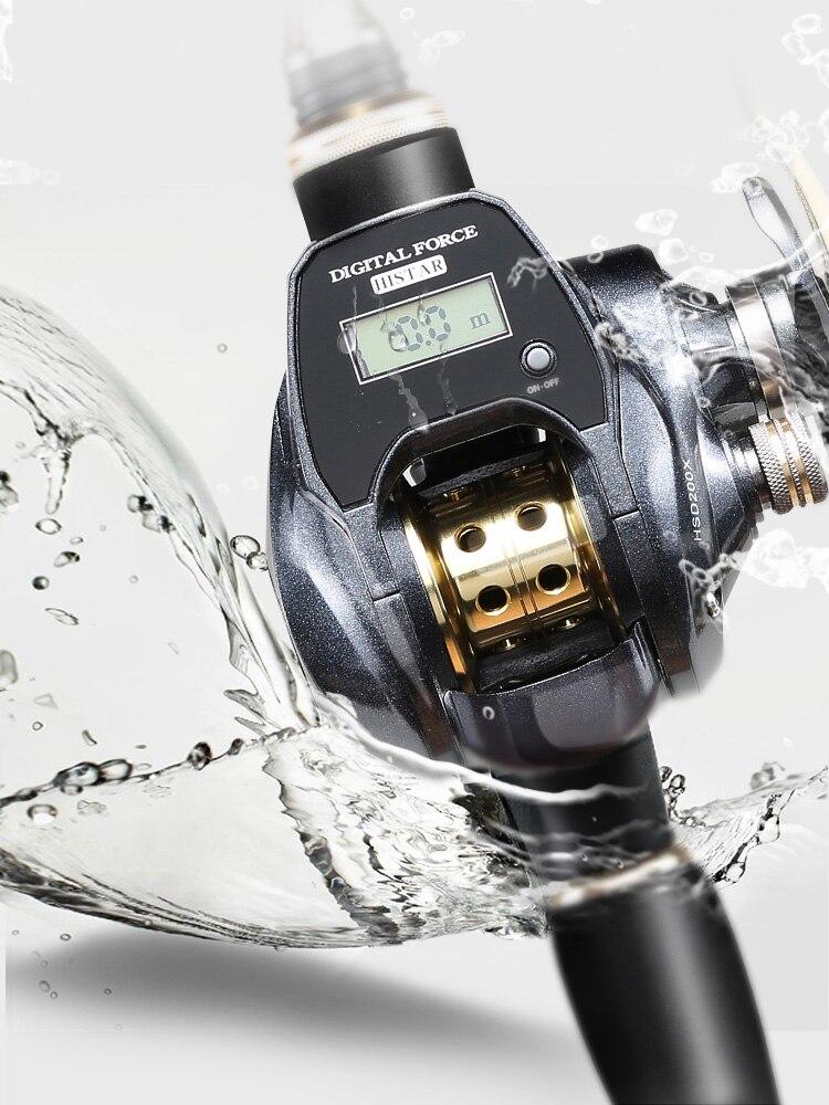 18 BB Bal Bearing7.0: 1 Bait Casting Vissen Rollen Baitcasting Reel Vislijn Teller Digitale LED Display Vissen Wiel Pesca - 5
