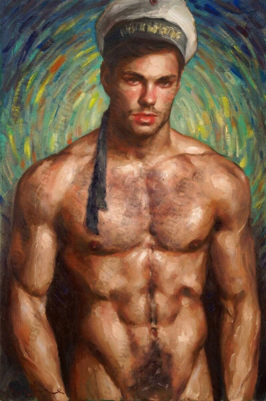 Gay men paintings