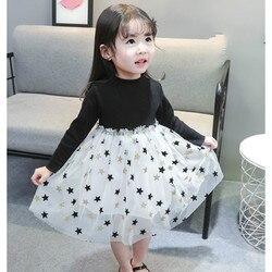 Милые детские платья CNUM для девочек, детское платье принцессы на день рождения с длинными рукавами для девочек, платье для крещения, платье ...