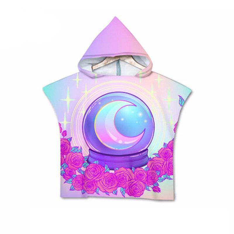 New Baby Fashion Cartoon Hooded Cloak Beach Towel Animal Printed Microfiber Baby Boys Girls Kids Swimming Bath Towel