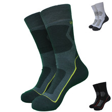 2組の冬のアウトドアスポーツ良質メリノウールサーモソックス男性の靴下の女性の靴下3色