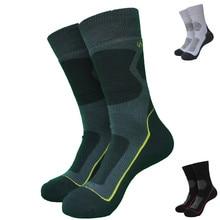2 Pairs الشتاء الرياضة في الهواء الطلق نوعية جيدة ميرينو الصوف الحرارية الجوارب الرجال الجوارب النسائية الجوارب 3 ألوان