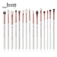 ジェサップ化粧ブラシキット15個パールホワイト/ローズゴールドpinceauxマキアージュcosmetisツールアイライナーシェーダコンシーラーペンシルT217