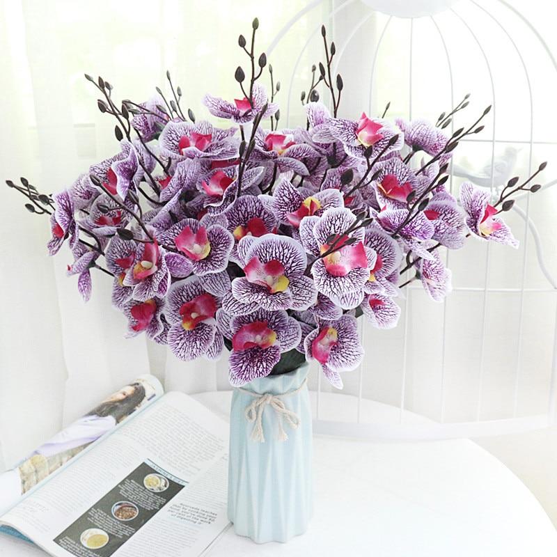 Семейный Свадебный букет фаленопсис, Декор для дома, Цветочная композиция, Шелковый цветочный материал