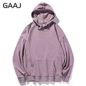 Image 4 - GAAJ 100 bawełna mężczyźni bluzy kobiety odzież wierzchnia wysokiej jakości mężczyzna jesień wiosna Harajuku Hip Hop casualowe w stylu Streetwear marka fioletowy różowy