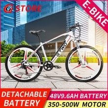 TAX FREE GG EU Storage Mountain Bike 48V 9.6Ah Lithium Battery 350W 500W Electric Bike 5 Level Pedal Assist Suspension Fork MTB