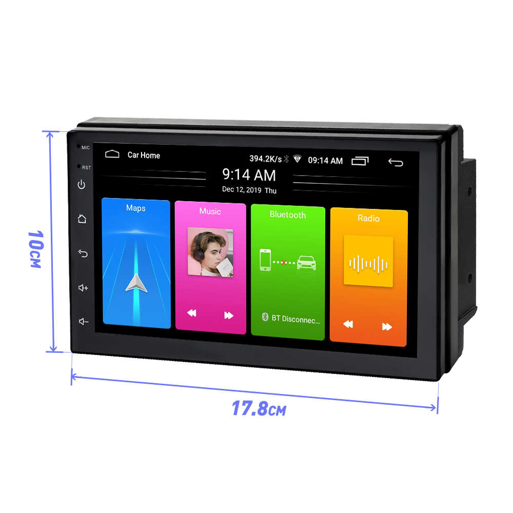 Android 8.1 Car Radio Stereo GPS Navigation Bluetooth wifi Universal 7'' 2din 2.5D IPS Car Radio Stereo Quad Core Multimedia