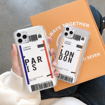 Ins Travel Label Country Case For Samsung Galaxy A10 A20 A30 A50 A70 M10 M20 A7 2018 J2 J7 Prime Flight Ticket Letter Soft Cover image