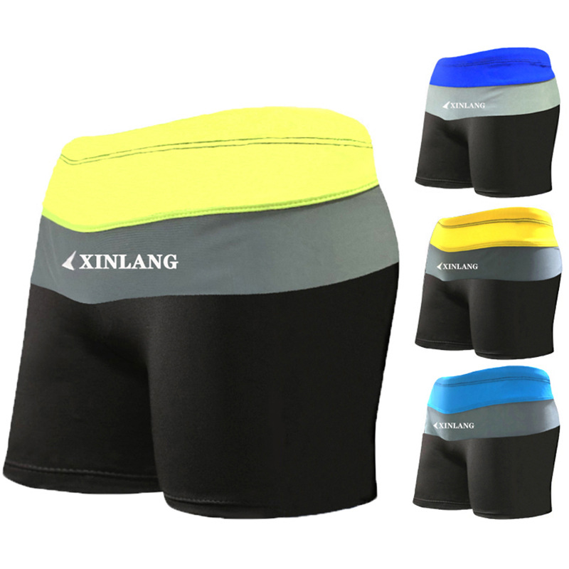 New Style Hot Springs Men Boxer Swimming Trunks-Style Mixed Colors Hot Springs High Elastic MEN'S Swimming Trunks