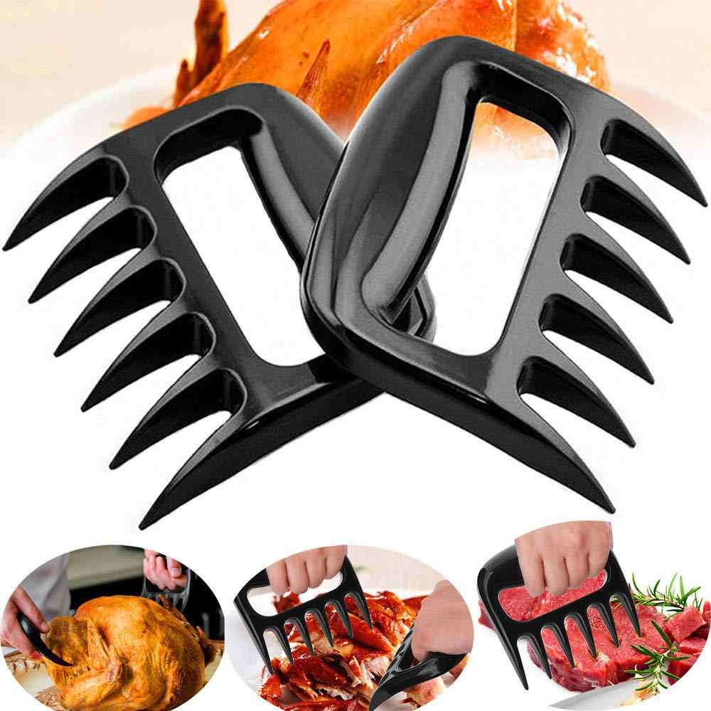 1 sztuk niedźwiedź pazury widelec do grilla plastikowe Pull mięso Shred pieczenia kurczaka wieprzowina zacisk czarny czerwony narzędzia do grillowania kuchenne narzędzia kuchenne