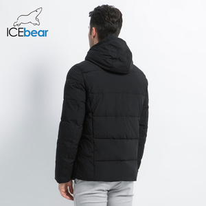 Image 4 - ICEbear 2019 new winter  fashion brand parkas mens jacket simple fashion hooded coat knit cuff design males jackets MWD18926D