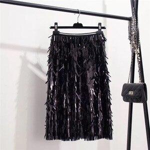 Image 5 - Marwin 2019 New Đến Mùa Thu Đông Kim Sa Lấp Lánh Váy Thời Trang Chiếu Trúc Hạt Tới Đầu Gối Đế Quốc Gợi Cảm Câu Lạc Bộ Giáng Sinh Váy