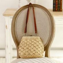YoReAi Straw Crossbody Bag For Women 2021 Handmade Woven PU Leather Female Summer Beach Holiday Bohemia Retro Shoulder Bags