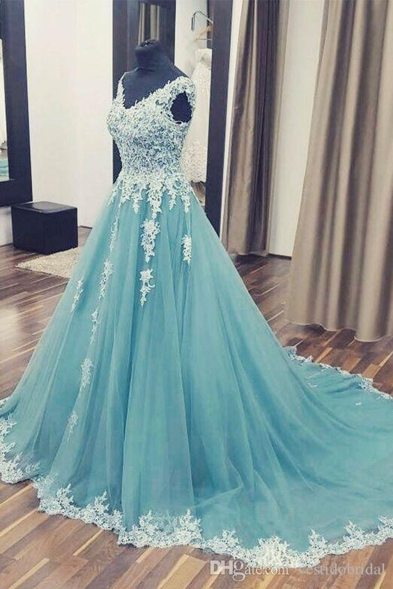 Turquoise Quinceanera Dresses 2019 Lace Applique Corset Masquerade Ball Gown Sweet 16 Dresses Formal Wear Prom dress