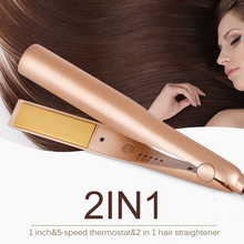 2 in 1 Adjustable Temperature Hair Curling Curler Wand Rolle