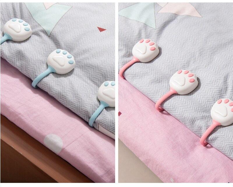 de cama clipes não-deslizamento capa doméstica decoração de casa