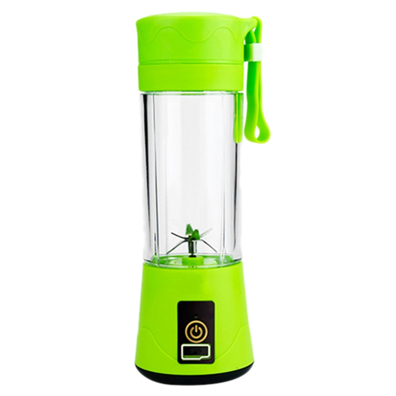 380Ml Portable Juicer USB Rechargeable 6 Blades Juicer Smoothie Blender Machine Mixer Mini Juice Cup Green image