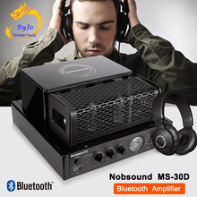 Nobsound MS 30DとMS 30D mkii bluetoothアンプ真空管アンプオーディオ 110 v 220 vアンプパワーアンプMS 10D mkiiアップグレード