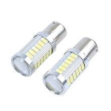 цена на 2x 12V BA15S P21W 1156 LED Car Backup Reverse Light White Bulb 33-SMD 5630 5730