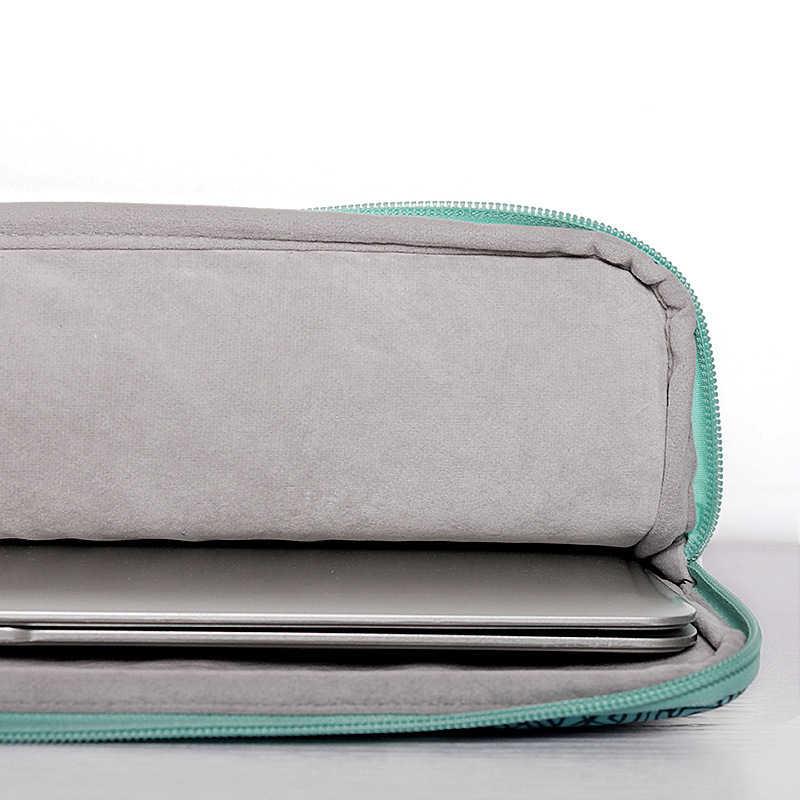 Mode Polyester 13.3 14 15.4 pochette d'ordinateur manchon pour Macbook Air Pro Retina 13 15 ordinateur portable couverture étui asus Acer Dell sac à main