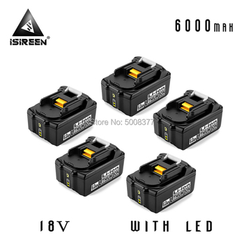 6000mAh Li-ion Battery Packs BL1860 Replacement for Makita 18V BL1840 BL1830 BL1850 LXT400 Power Tool Rechargeable Battery