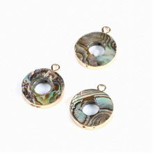 Jewelry Finding Connectors Natural Pearl Fritillary Abalone Shell Pendant Fashion Necklace Making16*20MM