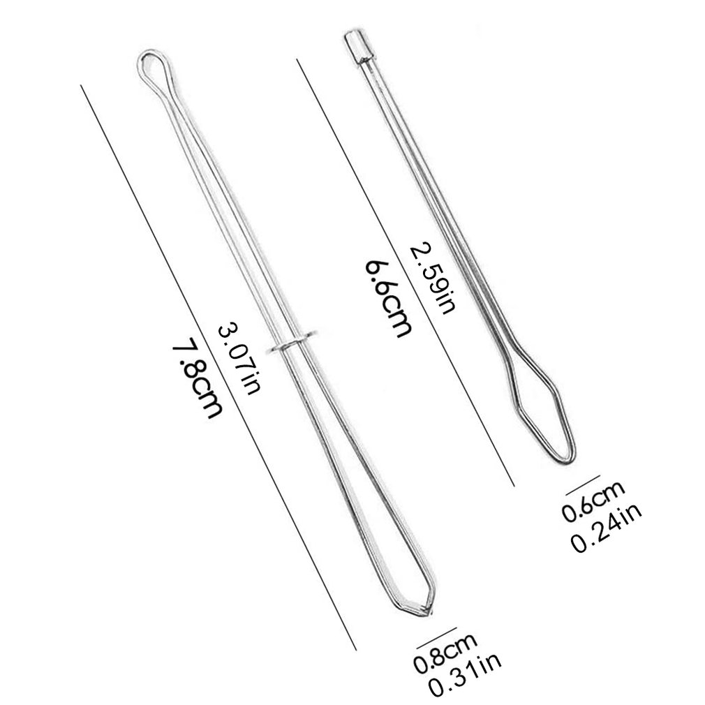Qinghengyong 2pcs//Set DIY Rope Wearing Threading Guide Device Elastic Forward Device Tool Elastic Band Clip Needle Sewing Utility