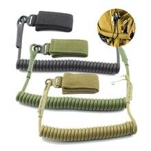 2021 Molle Airsoft Coil Sling Military Elastic Spring Rope Belt Backpack Lanyard Strap Bag Hand Shooting Hunt Pistol Tool Drop