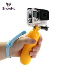 SnowHu für Gopro Zubehör Schwimm Handheld Stick Grip Für Go Pro Hero 9 8 7 6 5 4 SJCAM SJ4000 xiaomi Yi Kamera GP81