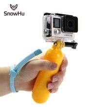 SnowHu pour Gopro accessoires flottant poignée de bâton de poche pour Go Pro Hero 9 8 7 6 5 4 SJCAM SJ4000 Xiaomi Yi caméra GP81