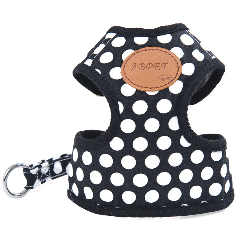 Safe Dog Rope Vest Style Puppy Chest And Back Dog Hand Holding Rope Pet Dotted Chest And Back With Traction Set