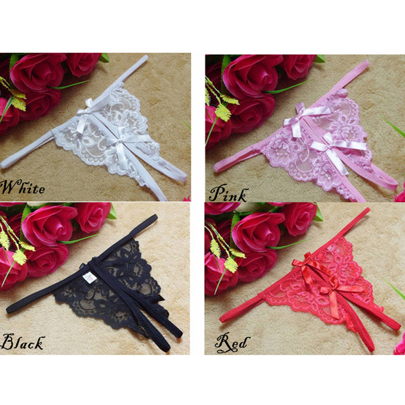 Women Panties Lace Thong G-string Sexy Briefs Lingerie Crotch Thong Underwear Low-Rise Woman Transparent T-back Female Clothing