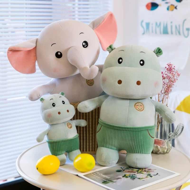 25-60 Cm Merah Muda Flappy Telinga Gajah Hippo Mewah Mainan Boneka Kartun Hewan Boneka Mainan untuk Anak-anak Berkualitas Tinggi super Lembut Mainan Bayi