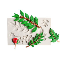 Длинные листья помадка форма цветок силиконовая форма для торта шоколада Свадебный Праздничный торт украшения инструменты силиконовые фо...