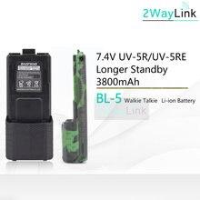 Bateria quente BL-5 3800mah baofeng uv-5r bateria para DM-5R mais uv 5r uv5r UV-5RE 5re compatível com RT-5R rt5r 1800mah opcional