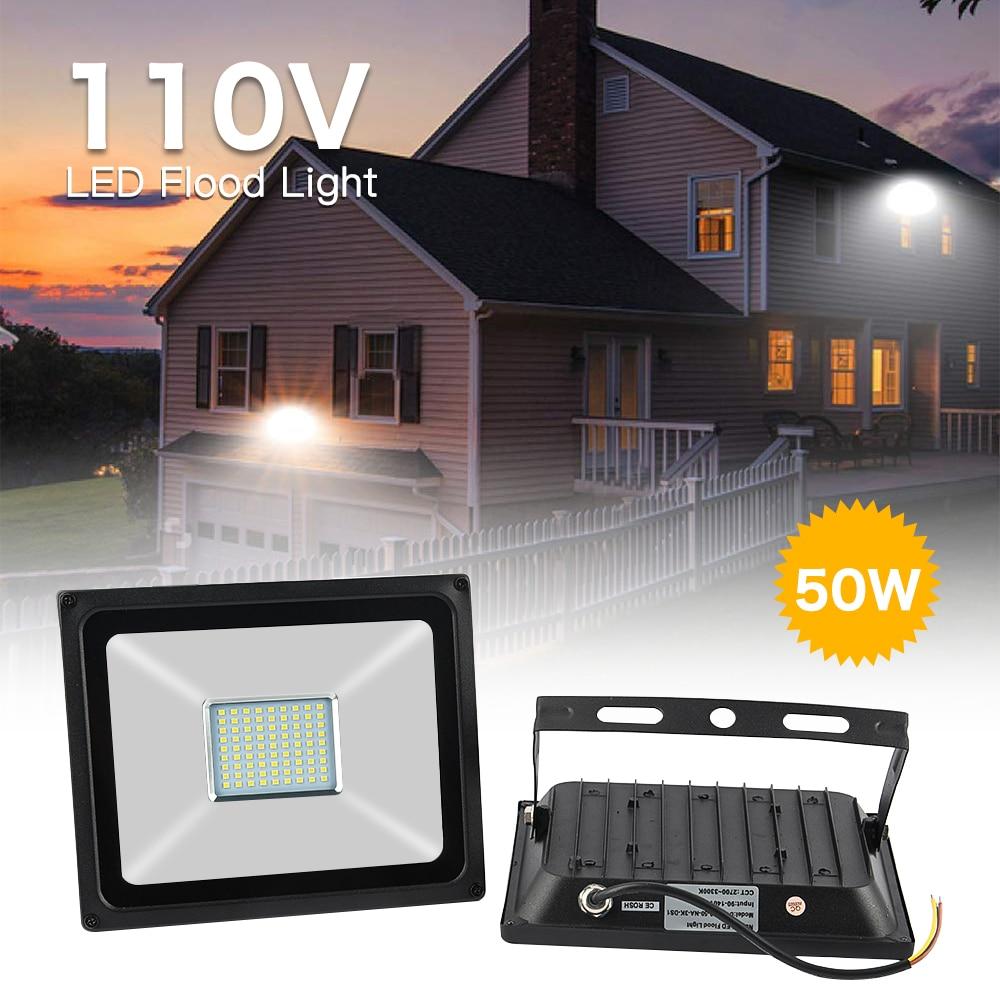 LED Flood Light 50W 110V led Floodlight AC110V LED street Lamp waterproof IP65 outdoor Lighting led spotlight Warm /Cold White