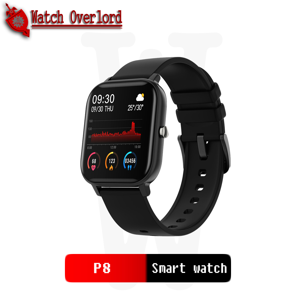 WO P8 1.4 Inch Smart Watch Men Full Touch Fitness Tracker Blood Pressure Smart Clock Women GTS Smartwatch For IOS Android