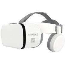 """Caixa de Óculos De Realidade Virtual VR Z6 Bluetooth 3D BOBO Google Papelão Stereo Mic Fone de Ouvido do Capacete para 4.7 6.5"""" smartphone + Joystick"""